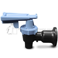 Tomlinson 1011613 - HFS-3F Series Black Body Blue Touch Guard Faucet