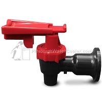 Tomlinson 1011613 - HFS-3F Series Black Body Red Touch Guard Faucet