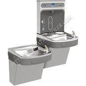 Elkay EZSTLRDDWSLK EZH2O Reversed Bi-Level Barrier Free Drinking Fountain with Bottle Filling Station (Non-refrigerated)