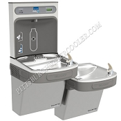 Elkay LZSTLDDWSLK EZH2O Bi-Level Barrier Free Filtered Drinking Fountain with Bottle Filling Station (Non-refrigerated)