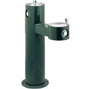 Elkay LK4420 Bi-Level Tubular Pedestal Barrier Free Drinking Fountain (Non-refrigerated)