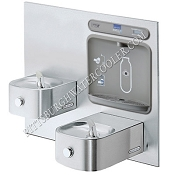 ELKAY LZWS-EDFP217K EZH2O ADA Soft Sides Filtered Bi-Level Drinking Fountain with Bottle Filling Station (Non-Refrigerated)