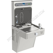 Elkay VRCGRN8WSK EZH2O Barrier Free 8 GPH Vandal Resistant GreenSpec Listed Water Cooler with Bottle Filling Station (Refrigerated Drinking Fountain)