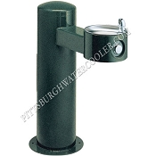 Halsey Taylor 4410 FR Freeze-Resistant Endura II Tubular Pedestal Barrier Free Outdoor Drinking Fountain (Non-refrigerated)
