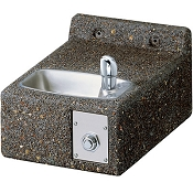 Elkay LK4593 Stone Aggregate Face-Mounted Barrier Free Drinking Fountain (Non-refrigerated)