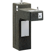 Elkay LK4595 Bi-Level Stone Aggregate Pedestal Barrier Free Drinking Fountain (Non-refrigerated)