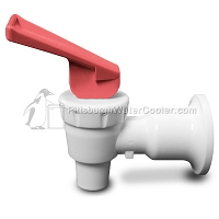 Tomlinson 1008781 - HFS-3F Series White Body Red Handle Faucet