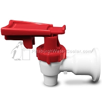 Tomlinson 1009487 - HFS-3F Series White Body Red Touch Guard Faucet