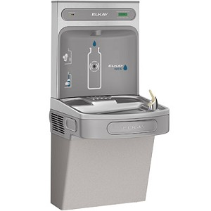 Elkay LZS8WSLK EZH2O Barrier Free 8 GPH Filtered Water Cooler with Bottle Filling Station (Refrigerated Drinking Fountain)