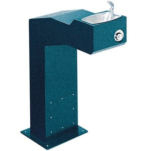 Halsey Taylor 4710 FR Freeze-Resistant Endura Steel Pedestal Barrier Free Drinking Fountain (Non-refrigerated)