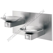 Haws 1011 Bi-Level Barrier Free Drinking Fountain with Back Panel (Non-refrigerated)