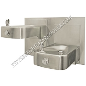 Haws 1117L Bi-Level Barrier Free Drinking Fountain with Antimicrobial Protection (Non-refrigerated)