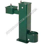 Haws 3500D Bi-Level Barrier Free Outdoor Drinking Fountain with Pet Fountain (Non-refrigerated)