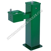 Haws 3500FR Bi-Level Barrier Free Freeze Resistant Outdoor Drinking Fountain (Non-refrigerated)