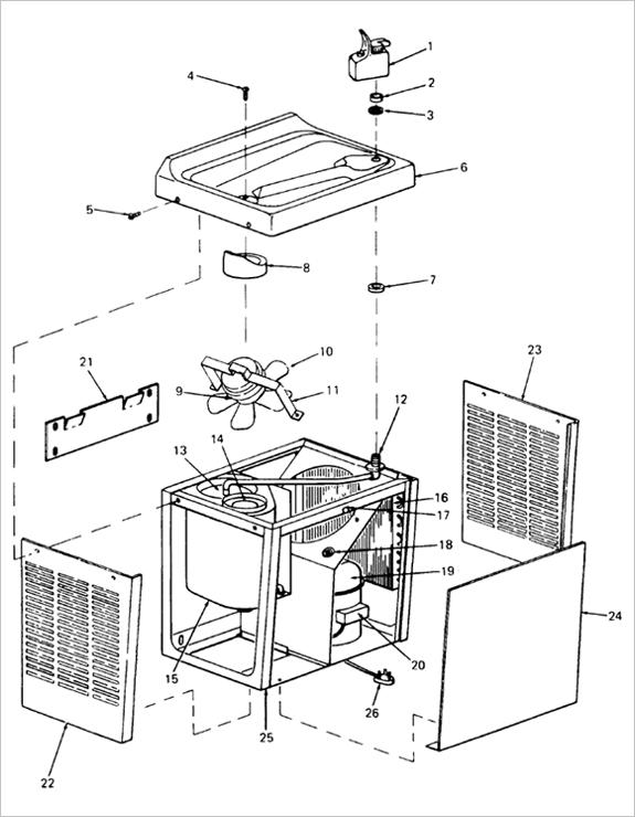 Oasis Water Cooler Parts Diagram