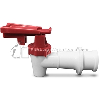 Sunroc A020770-02 - RF White Body Red Safety Handle Faucet Assembly