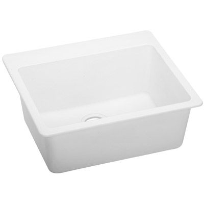 Elkay ELG2522WH0 - Quartz Classic, Single Bowl Drop-In Sink (White Finish)