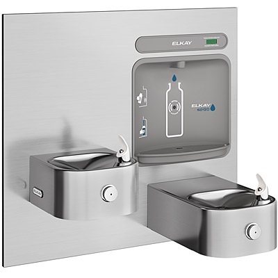 ELKAY EZWS-EDFP217K EZH2O ADA Soft Sides Bi-Level Drinking Fountain with  Bottle Filling Station (Non-Refrigerated)