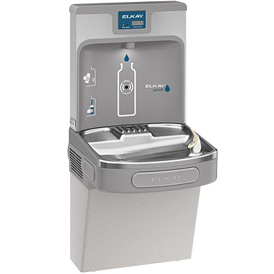 ELKAY LZS8WSLP EZH2O Filtered Enhanced Bottle Filling Station with Single  ADA Water Cooler (Refrigerated Drinking Fountain)