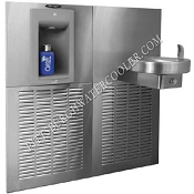 Oasis M12SBF 12 GPH Aqua Pointe Bottle Filling Station with Attached Water Cooler (Refrigerated Drinking Fountain)