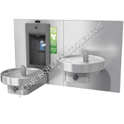 Oasis MMRSLSBF Bi-Level Modular Barrier Free VersaFiller Drinking Fountain and Bottle Filling Station (Non-refrigerated)