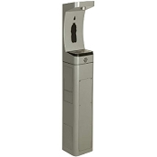 Haws 3610 ADA Stainless Steel Pedestal Outdoor Water Bottle Filler (Non-refrigerated)