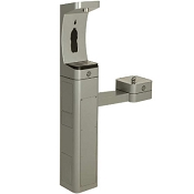 Haws 3611 ADA Stainless Steel Pedestal Outdoor Bottle Filler and Drinking Fountain (Non-refrigerated)