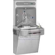 Elkay EZO8WSSK - Hands-Free, Contactless Water Cooler and Bottle Filling Station, 8 GPH, Non-Filtered, ADA Compliant, Stainless Steel Finish (Refrigerated Drinking Fountain)