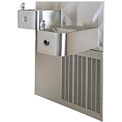 Haws H1119.8HO Touchless and Push Button 8 GPH Dual Water Cooler (Refrigerated Drinking Fountain)