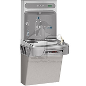 Elkay LZO8WSLK - Hands-Free, Contactless Water Cooler and Bottle Filling Station, 8 GPH, Filtered, ADA Compliant, Light Gray Granite Finish (Refrigerated Drinking Fountain)