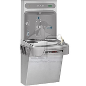 Elkay LZO8WSSK - Hands-Free, Contactless Water Cooler and Bottle Filling Station, 8 GPH, Filtered, ADA Compliant, Stainless Steel Finish (Refrigerated Drinking Fountain)