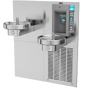 Oasis M8CRSBF Bi-Level Modular Barrier Free VersaFiller 8 GPH Water Cooler and Bottle Filling Station (Refrigerated Drinking Fountain)
