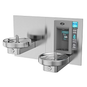 Oasis MMRSLEBF Bi-Level Modular Barrier Free Electronic VersaFiller Drinking Fountain and Bottle Filling Station (Non-refrigerated)