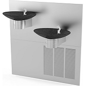 Halsey Taylor OVL-II SER BLK BASIN Bi-Level Barrier Free 8 GPH Water Cooler (Refrigerated Drinking Fountain)