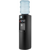 Clover B7A Black Cabinet Hot and Cold Bottled Water Cooler