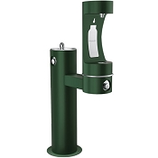 Elkay LK4420BF1L EZH2O Tubular Pedestal Barrier Free Outdoor Drinking Fountain and Bottle Filling Station (Non-refrigerated)