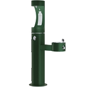 Elkay LK4420BF1U EZH2O Tubular Pedestal Barrier Free Outdoor Drinking Fountain and Bottle Filling Station (Non-refrigerated)