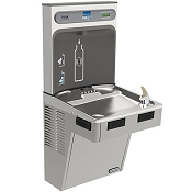 ELKAY EMABFDWSLK EZH2O Barrier Free Drinking Fountain with Bottle Filling Station - Non-Filtered (Non-Refrigerated)