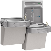 Elkay EZSTLDDWSLK EZH2O  Bi-Level Barrier Free Drinking Fountain with Bottle Filling Station (Non-refrigerated)