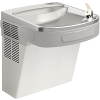 ELKAY EZS8S ADA Barrier Free 8 GPH Water Cooler (Refrigerated Drinking Fountain) - Stainless Steel Finish Lower Panel
