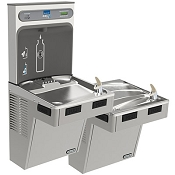 ELKAY LMABFTLDDWSLK EZH2O Filtered Bi-Level Barrier Free Drinking Fountain with Bottle Filling Station (Non-Refrigerated)