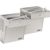 Elkay VRCTLRDDSC Reversed Bi-Level Vandal Resistant ADA Drinking Fountain (Non-refrigerated)