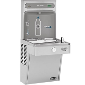 Elkay LVRCGRN8WSK EZH2O Barrier Free 8 GPH Filtered Vandal Resistant GreenSpec Listed Water Cooler with Bottle Filling Station (Refrigerated Drinking Fountain)