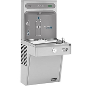 Elkay VRCGRN8WSK EZH2O Barrier Free 8 GPH Vandal Resistant GreenSpec Listed Water Cooler with Bottle Filling Station - Non-Filtered (Refrigerated Drinking Fountain)