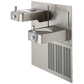 Haws H1117.8 Bi-Level Barrier Free 8 GPH Water Cooler with Antimicrobial Protection (Refrigerated Drinking Fountain)