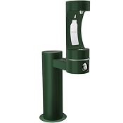 Halsey Taylor 4410BF Endura II Tubular Pedestal Barrier Free Outdoor Bottle Filling Station (Non-refrigerated)