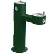 Halsey Taylor 4420 Bi-Level Endura II Tubular Pedestal Barrier Free Outdoor Drinking Fountain (Non-refrigerated)
