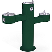 Halsey Taylor 4430 Triple-Bowl Endura II Tubular Pedestal Barrier Free Outdoor Drinking Fountain (Non-refrigerated)