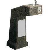 Halsey Taylor 4590SFR Sanitary Freeze-Resistant Sierra Stone Pedestal Barrier Free Drinking Fountain (Non-refrigerated)