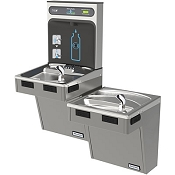 Halsey Taylor HTHB-HACDBLPV-NF HYDROBOOST Bi-Level Barrier Free Filterless Drinking Fountain with Bottle Filling Station (Non-refrigerated)